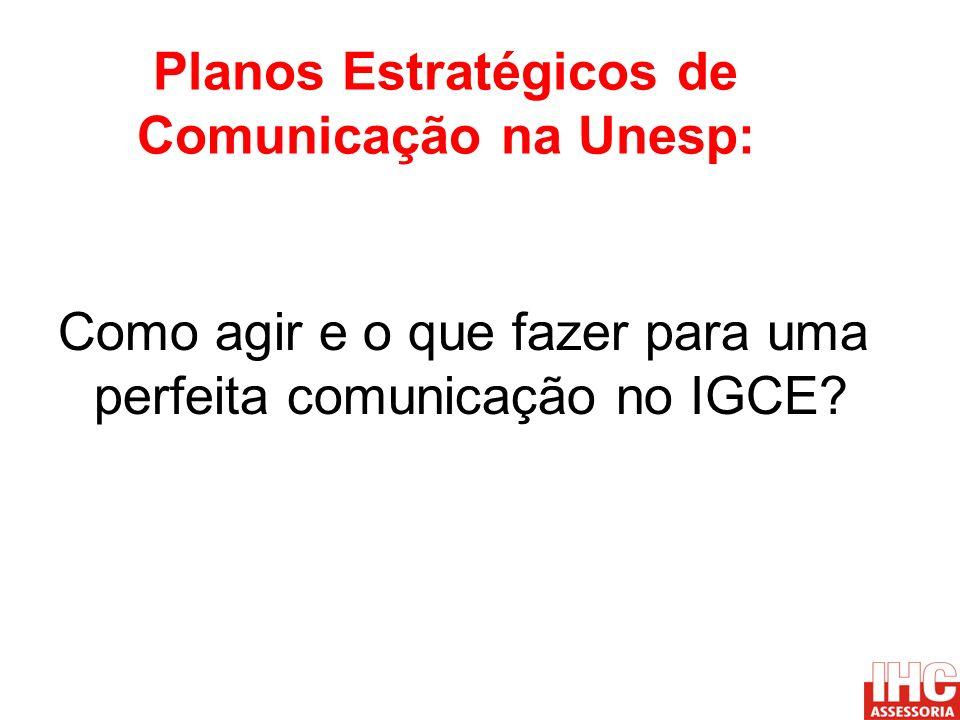 Planos Estratégicos de Comunicação na Unesp: