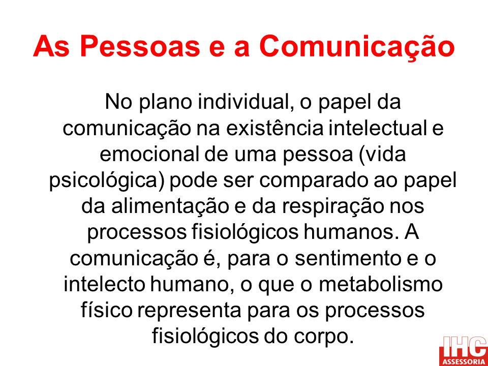 As Pessoas e a Comunicação