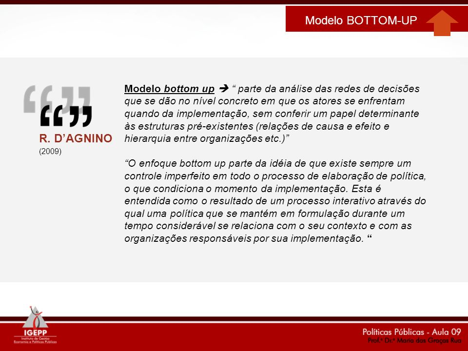 Modelo BOTTOM-UP R. D'AGNINO