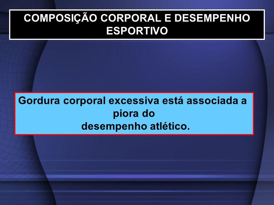 COMPOSIÇÃO CORPORAL E DESEMPENHO ESPORTIVO
