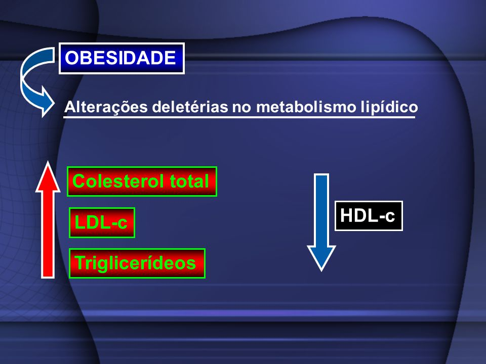 OBESIDADE Colesterol total HDL-c LDL-c Triglicerídeos