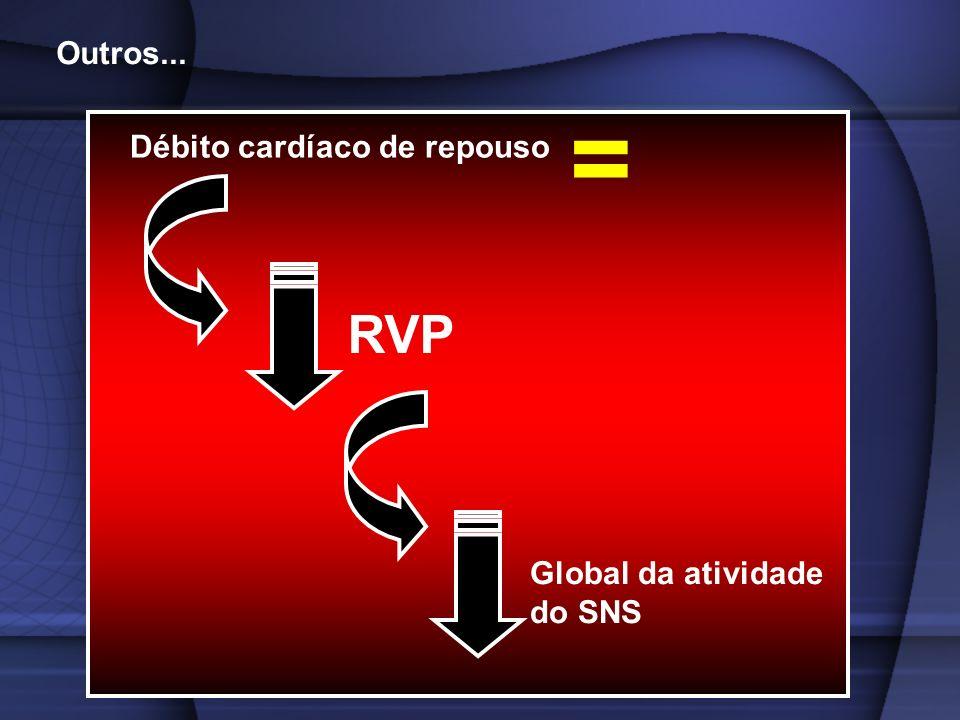 Outros... = Débito cardíaco de repouso RVP Global da atividade do SNS