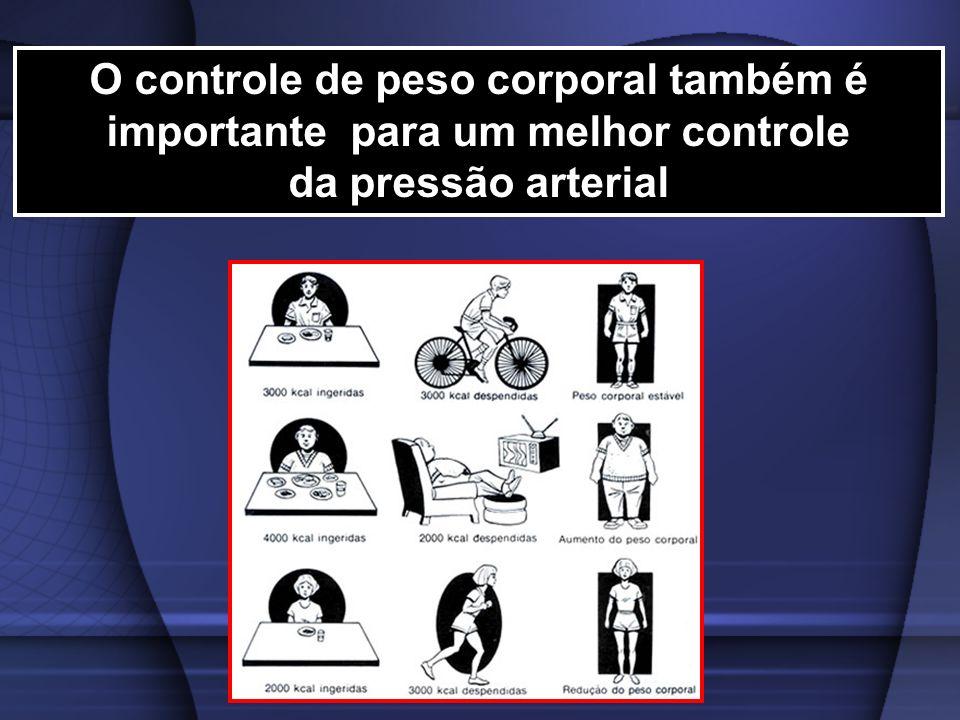 O controle de peso corporal também é importante para um melhor controle