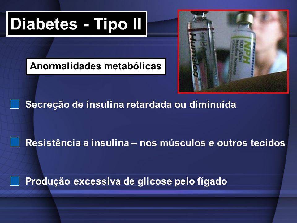 Diabetes - Tipo II Anormalidades metabólicas