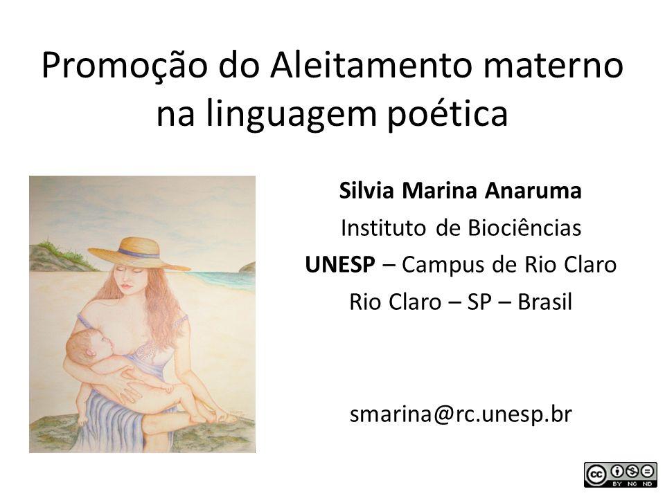 Promoção do Aleitamento materno na linguagem poética