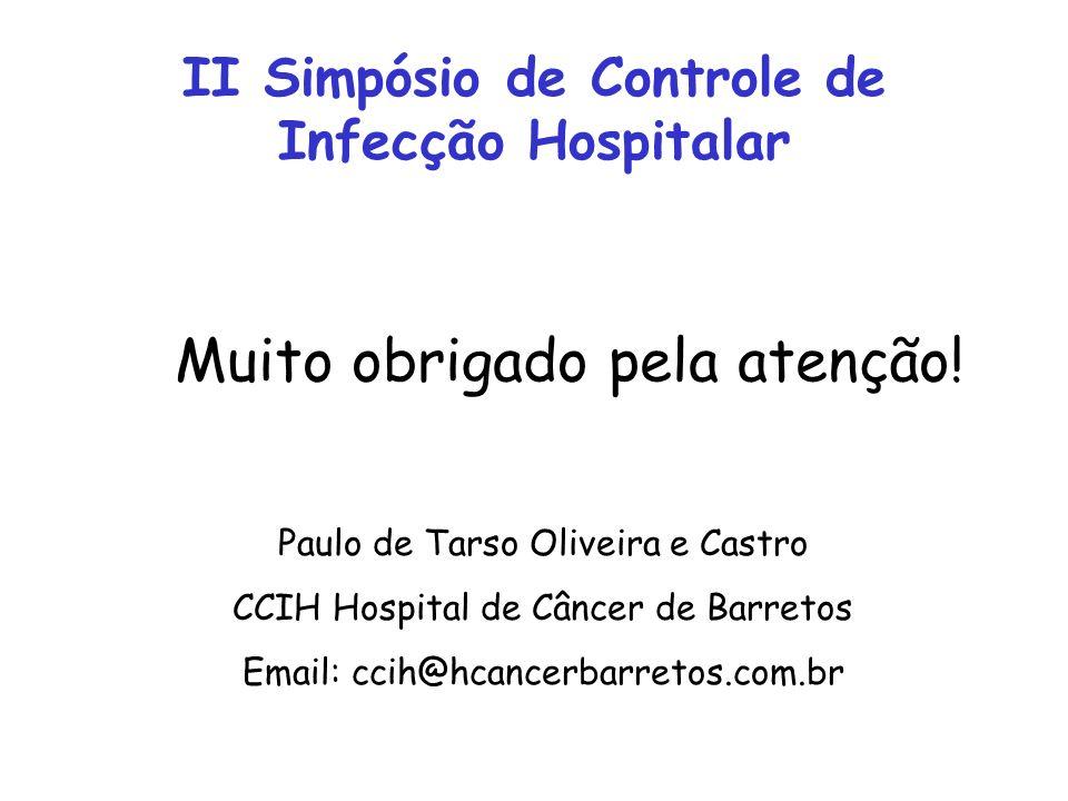 II Simpósio de Controle de Infecção Hospitalar