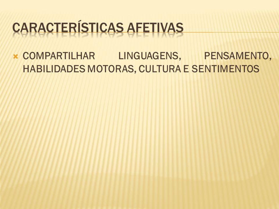 CARACTERÍSTICAS AFETIVAS