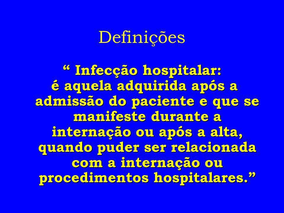 Infecção hospitalar: