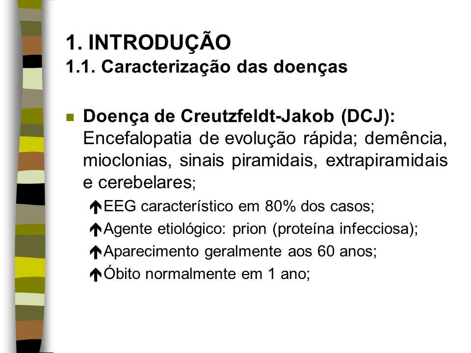 1. INTRODUÇÃO 1.1. Caracterização das doenças