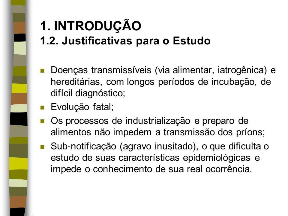 1. INTRODUÇÃO 1.2. Justificativas para o Estudo