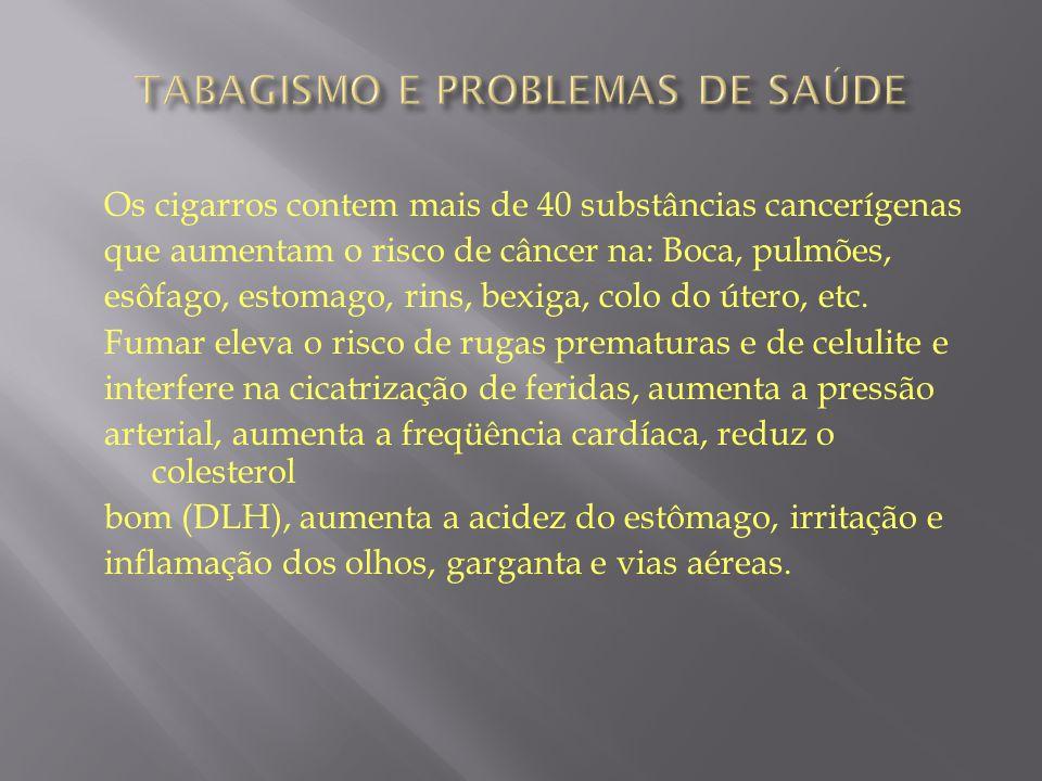 TABAGISMO E PROBLEMAS DE SAÚDE