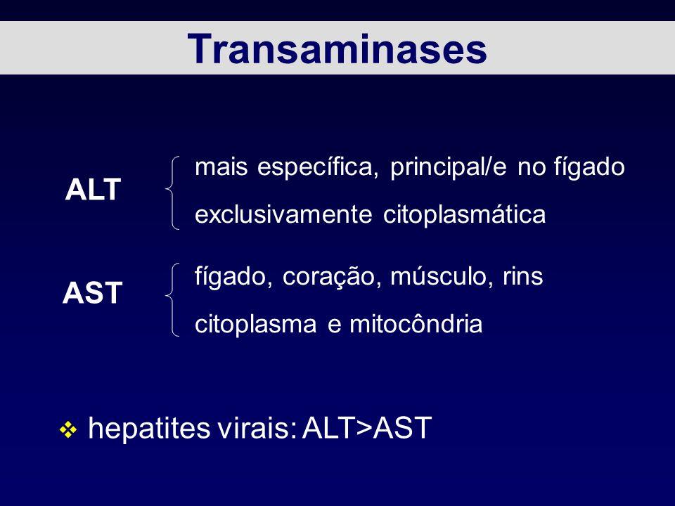 hepatites virais: ALT>AST