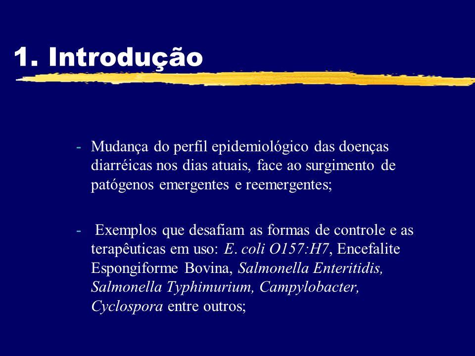 1. IntroduçãoMudança do perfil epidemiológico das doenças diarréicas nos dias atuais, face ao surgimento de patógenos emergentes e reemergentes;