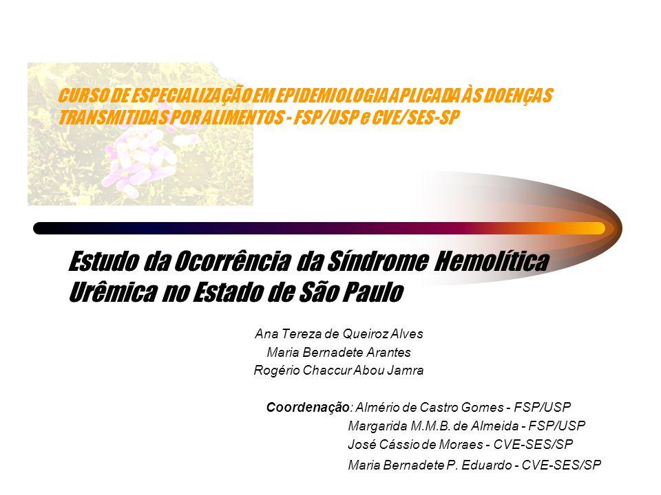 CURSO DE ESPECIALIZAÇÃO EM EPIDEMIOLOGIA APLICADA ÀS DOENÇAS TRANSMITIDAS POR ALIMENTOS - FSP/USP e CVE/SES-SP