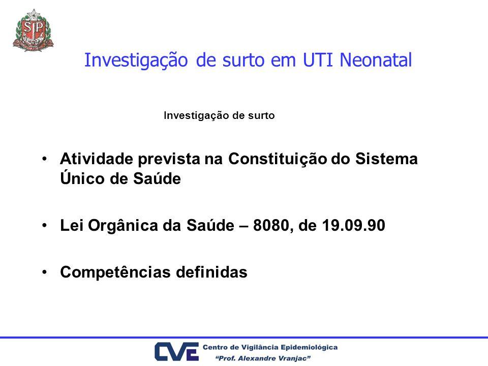 Investigação de surto em UTI Neonatal