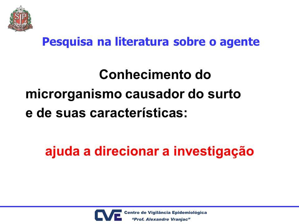 Pesquisa na literatura sobre o agente