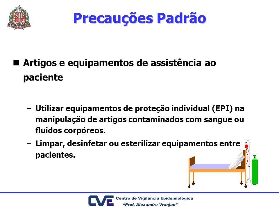 Precauções Padrão Artigos e equipamentos de assistência ao paciente