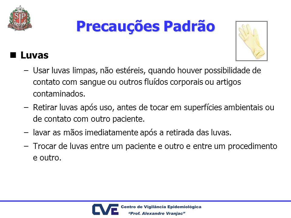 Precauções Padrão Luvas