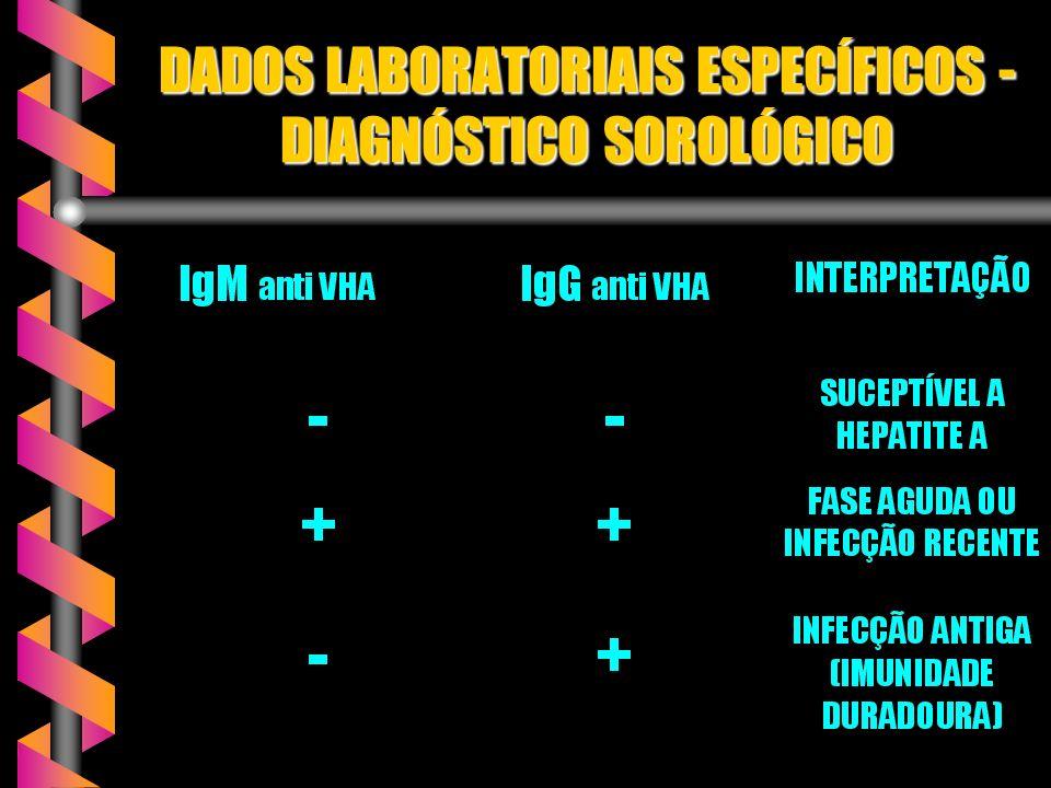 DADOS LABORATORIAIS ESPECÍFICOS - DIAGNÓSTICO SOROLÓGICO