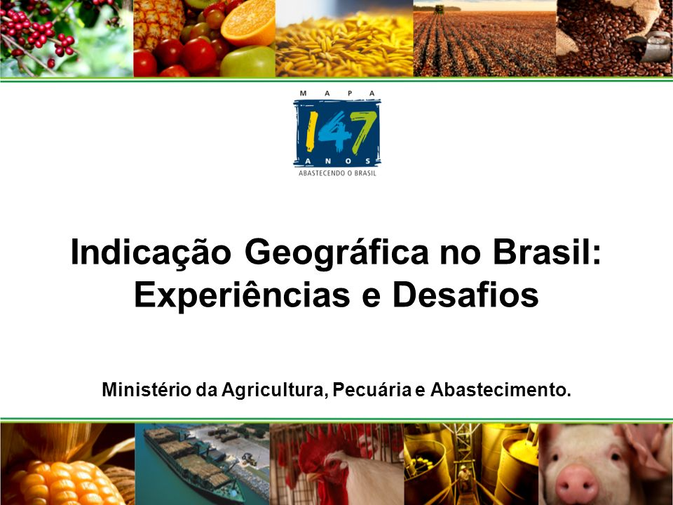Ministério da Agricultura, Pecuária e Abastecimento.