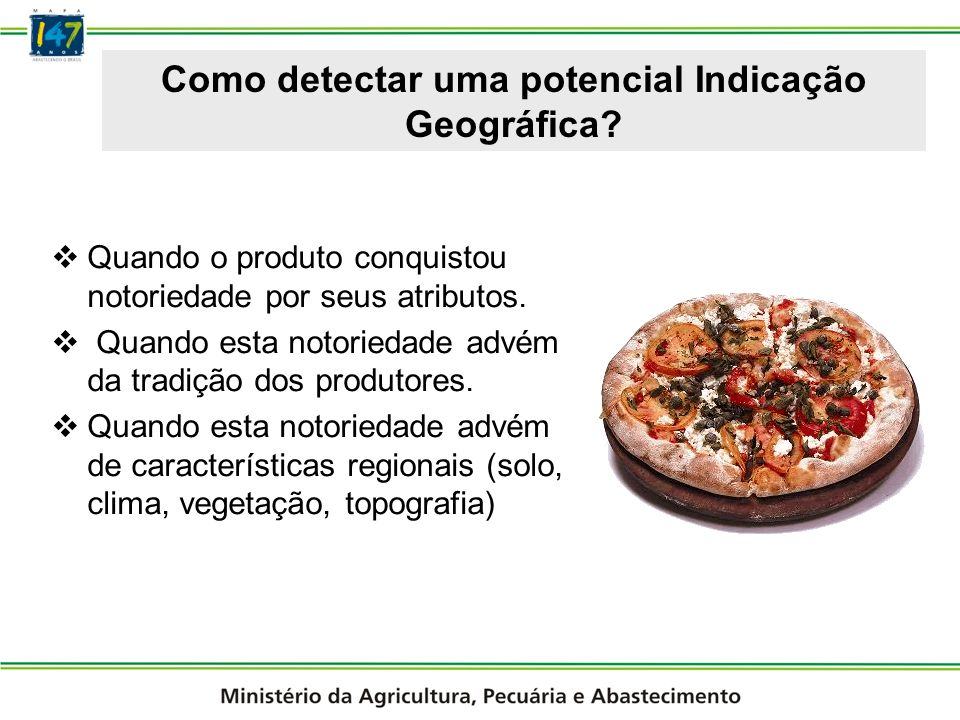 Como detectar uma potencial Indicação Geográfica