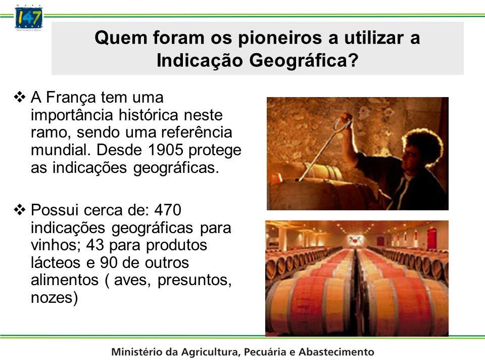 Quem foram os pioneiros a utilizar a Indicação Geográfica