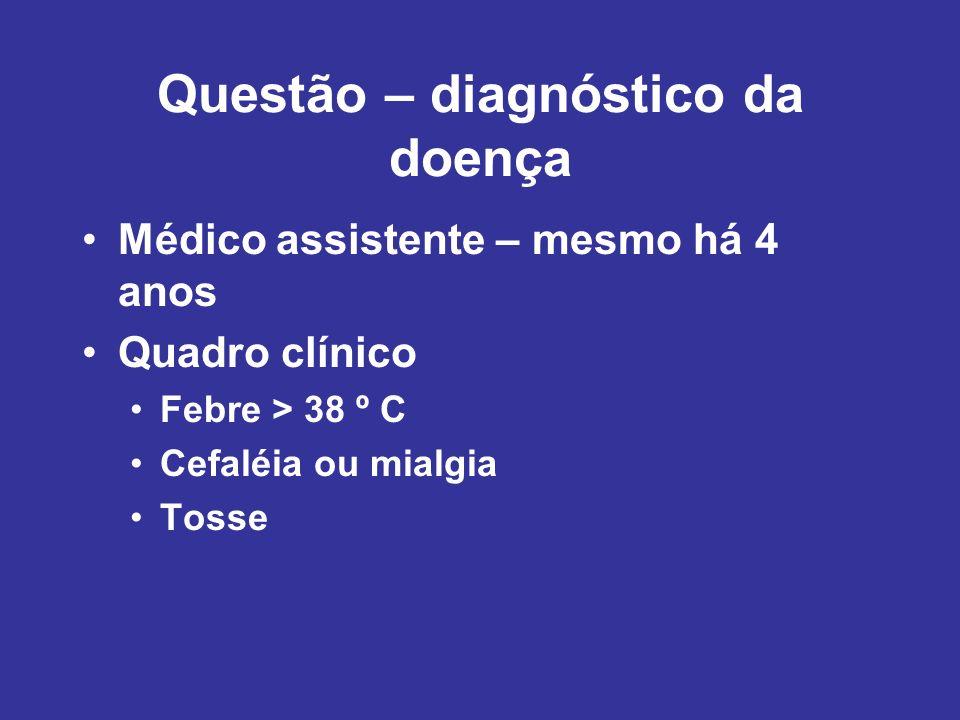Questão – diagnóstico da doença
