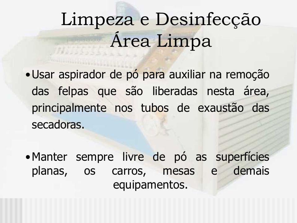 Limpeza e Desinfecção Área Limpa