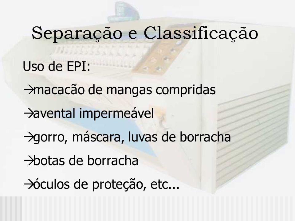Separação e Classificação