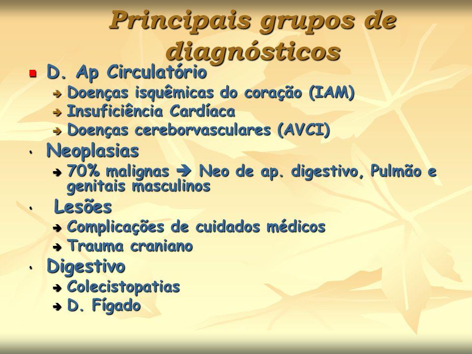 Principais grupos de diagnósticos