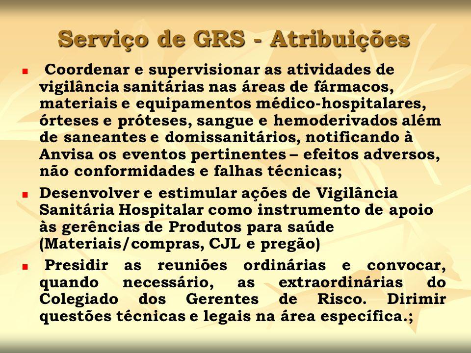 Serviço de GRS - Atribuições