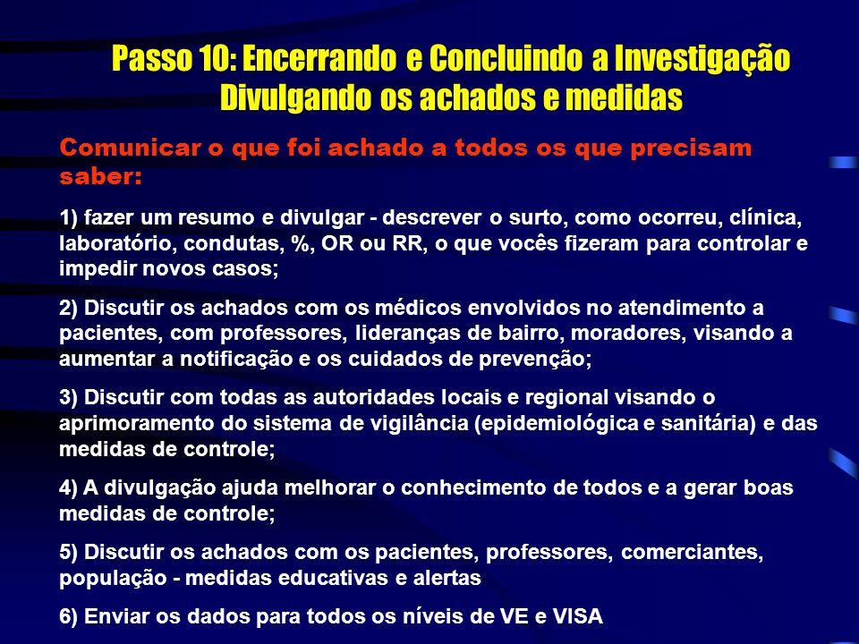 Passo 10: Encerrando e Concluindo a Investigação Divulgando os achados e medidas