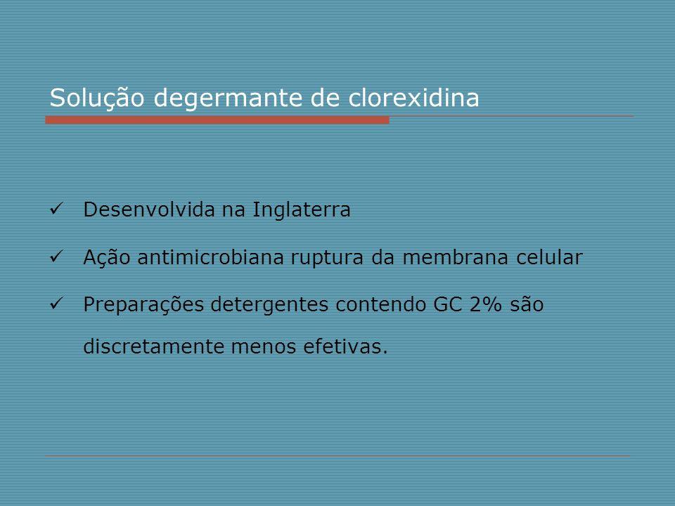 Solução degermante de clorexidina