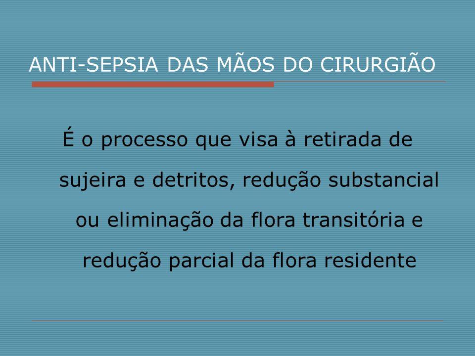 ANTI-SEPSIA DAS MÃOS DO CIRURGIÃO