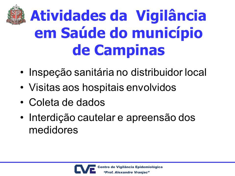 Atividades da Vigilância em Saúde do município de Campinas