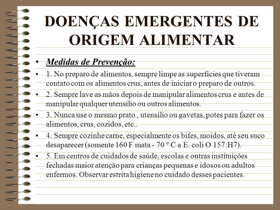 DOENÇAS EMERGENTES DE ORIGEM ALIMENTAR