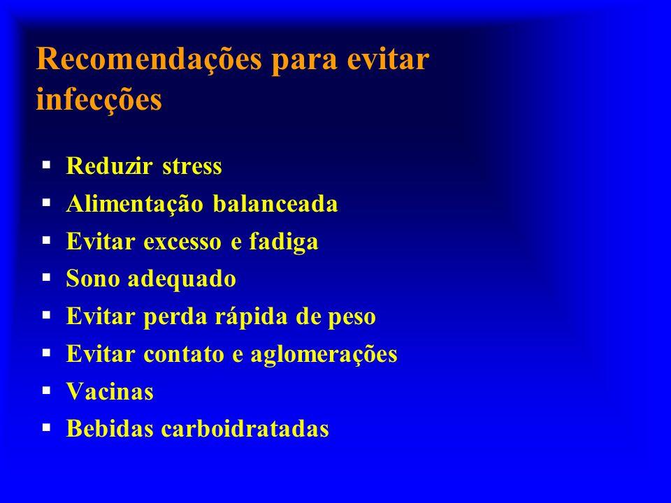 Recomendações para evitar infecções