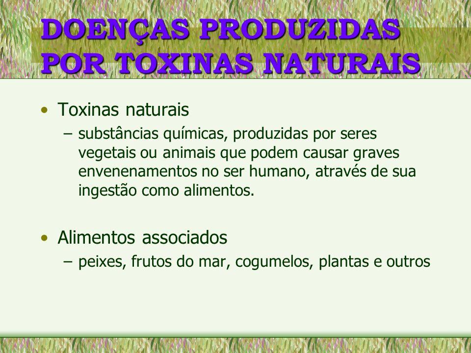 DOENÇAS PRODUZIDAS POR TOXINAS NATURAIS