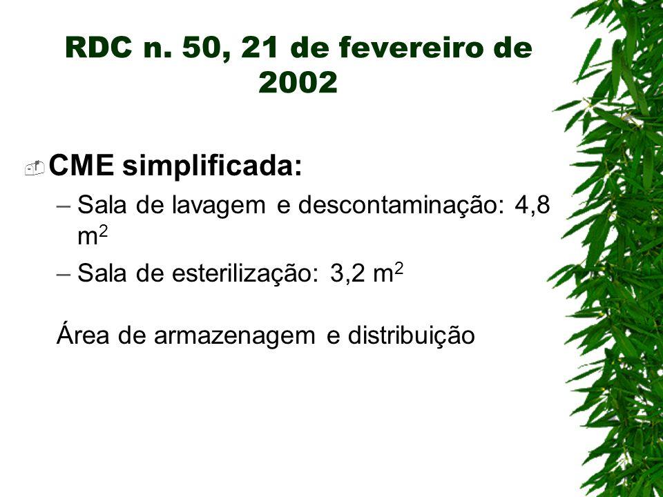 RDC n. 50, 21 de fevereiro de 2002 CME simplificada: