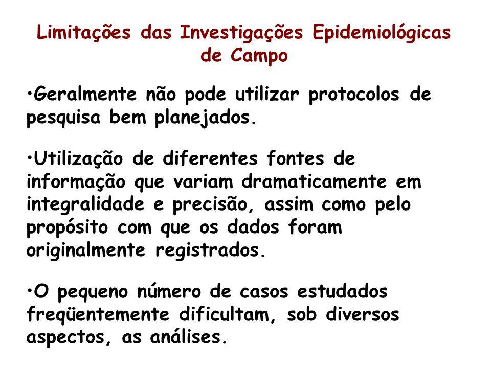 Limitações das Investigações Epidemiológicas de Campo