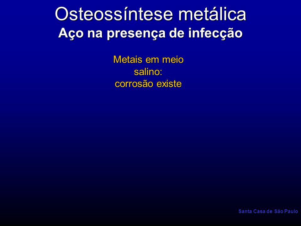 Osteossíntese metálica Aço na presença de infecção
