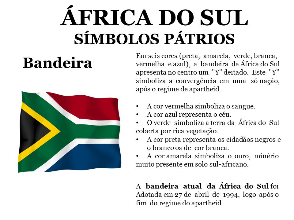 ÁFRICA DO SUL SÍMBOLOS PÁTRIOS - ppt video online carregar 84d55a2788598