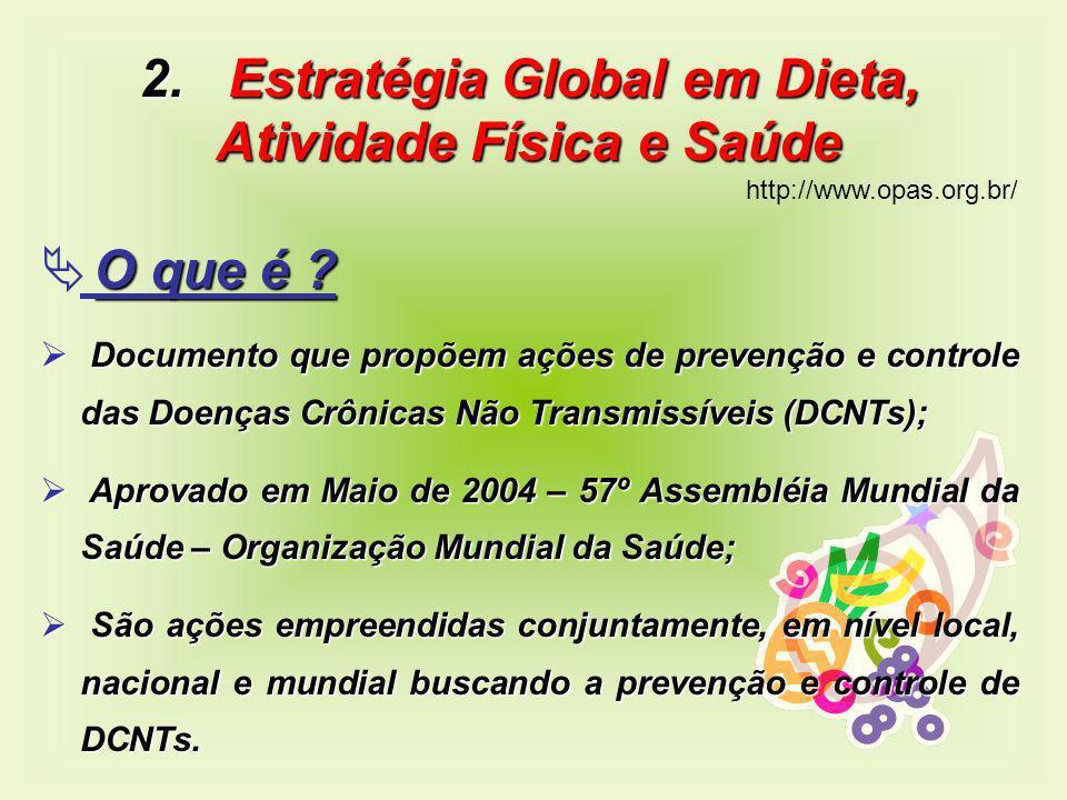 2. Estratégia Global em Dieta, Atividade Física e Saúde