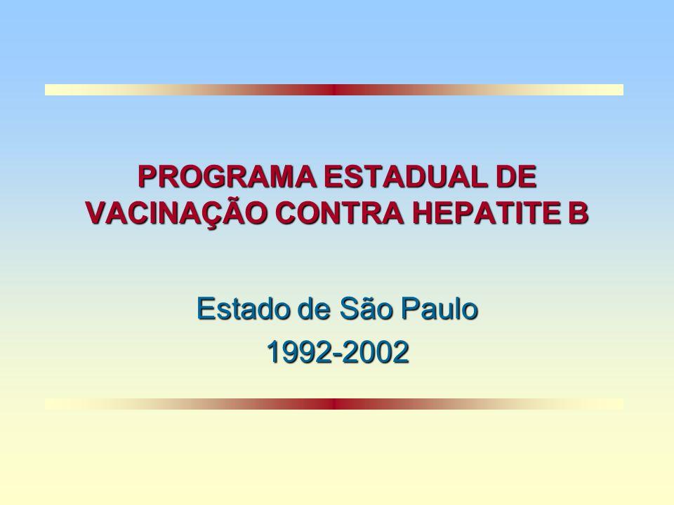 PROGRAMA ESTADUAL DE VACINAÇÃO CONTRA HEPATITE B