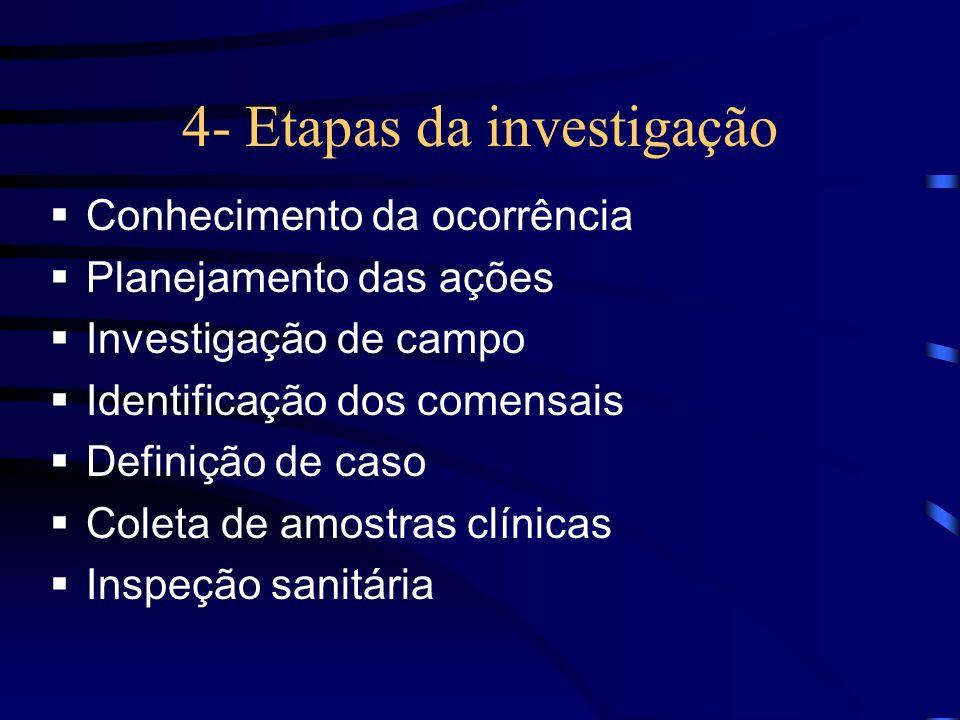 4- Etapas da investigação