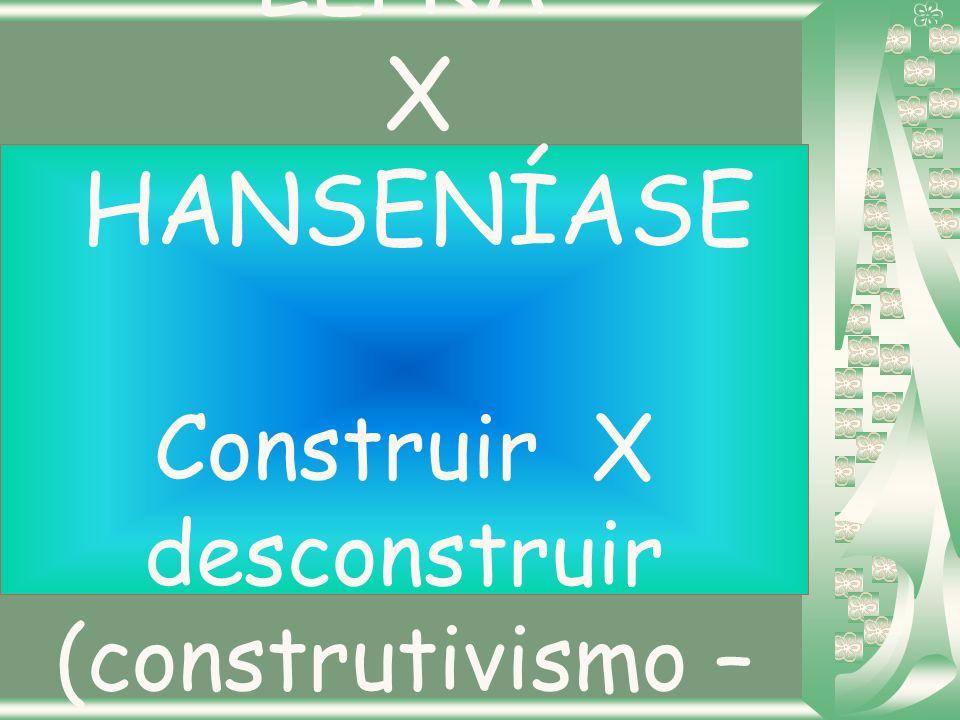 LEPRA X HANSENÍASE Construir X desconstruir (construtivismo – Piaget)
