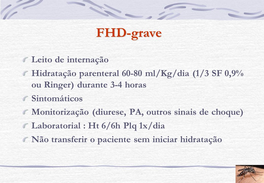 FHD-grave Leito de internação