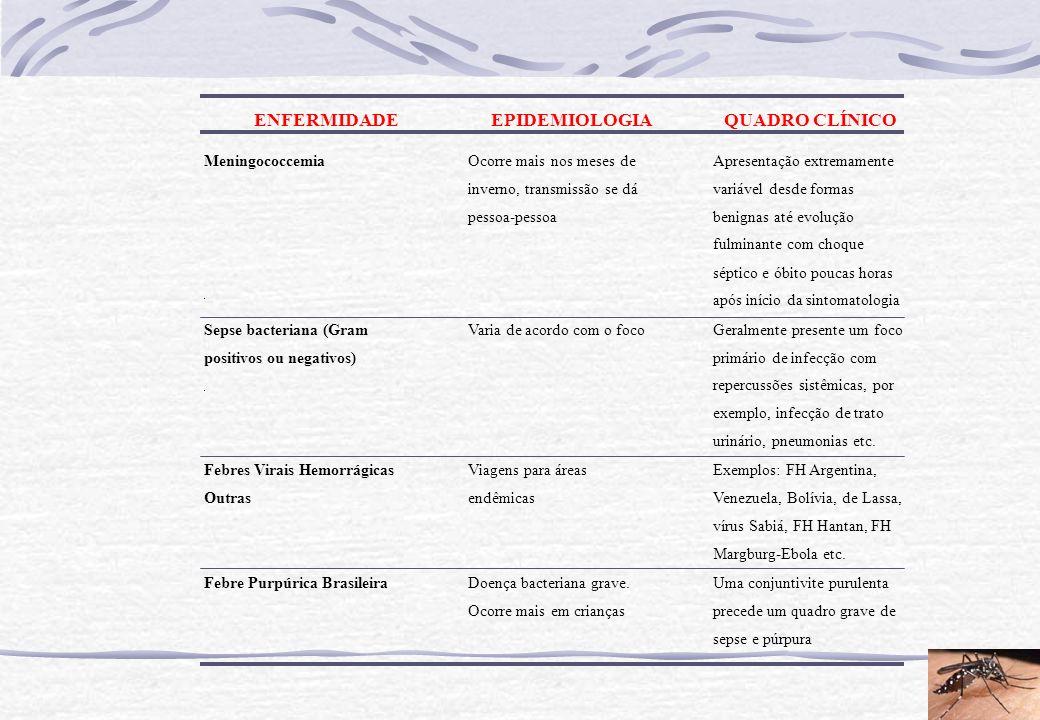 ENFERMIDADE EPIDEMIOLOGIA QUADRO CLÍNICO Meningococcemia