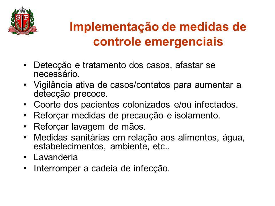 Implementação de medidas de controle emergenciais
