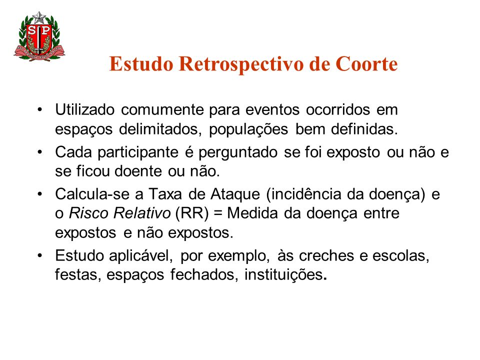 Estudo Retrospectivo de Coorte